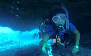 scuba diving under the arch