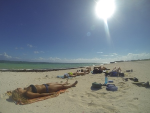 soaking up the rays at East Bay
