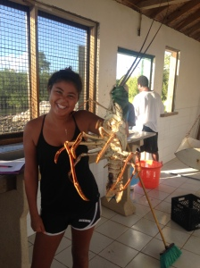 nine pound spiny lobster. This beast was pretty impressive