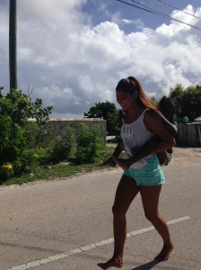 running with Moeisha on my back