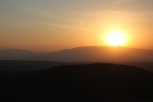 woke up at 5:00 to watch the sun rise over the African Rift Valley!  Kilimanjaro mountain somewhere in the background
