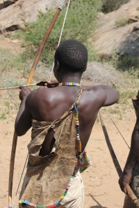 getting in some bow and arrow practice- Hadzabe tribe
