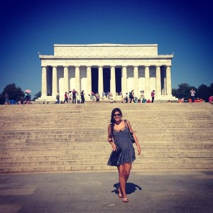 First time in Washington DC, May 2014