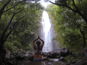 waterfall hike on Oahu